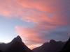 Milford Sound im Sonnenuntergang