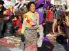 Tibeterin beim Beten